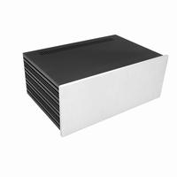 MODU Slimline 1NSLA04280B,10mm silver front, FA, 280mm deep