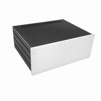 MODU Slimline 1NSLA04350B,10mm silver front, FA, 350mm deep<br />Price per piece