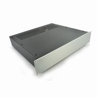 "MODU Pesante 1PS02P400B, 2U/19""  silver front, 400mm deep<br />Price per piece"