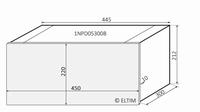 MODU Dissipante 1NPD05300B, 10mm silver front, 448x313x212mm