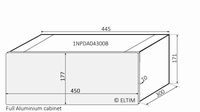 MODU Dissipante 1NPDA04300B, 10mm si front, 448x313x169mm