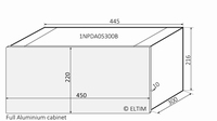 MODU Dissipante 1NPDA05300B, 10mm silber Front, FA, 300mm<br />Price per piece