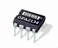 TI OPA2134PA, dual opamp, DIP8
