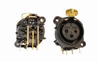 KACSA  MC-916G, XLR female 3p. socket, goldplated