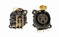 KACSA  MC-916G,xLR female 3p. socket, goldplated