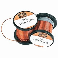 Laquered copper wire, Ø0,10mm, 100g, 1350m<br />Price per roll
