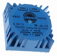TALEMA Toroidal transformer, 3,2VA, 2x115V>2x22V<br />Price per piece
