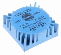TALEMA toroidal PCB transformer, 2x9V, 5VA
