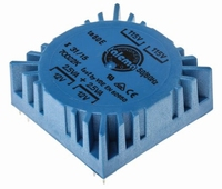 TALEMA Ringkern Transformator, 5VA, 2x115V>2x12V<br />Price per piece