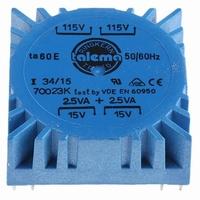 TALEMA Ringkern Transformator, 5VA, 2x115V>2x15V<br />Price per piece