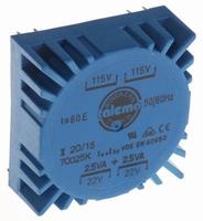 TALEMA Ringkern Transformator, 5VA, 2x115V>2x22V<br />Price per piece