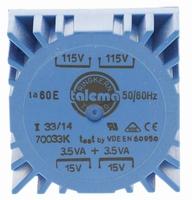 TALEMA Toroidal transformer, 7VA, 2x115V>2x15V<br />Price per piece