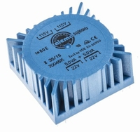 TALEMA Toroidal transformer, 10VA, 2x115V>2x22V<br />Price per piece