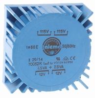 TALEMA Toroidal transformer, 15VA, 2x115V>2x12V