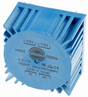 TALEMA Toroidal transformer, PCB mount, 25VA, 2x115V>2x9V