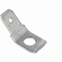 Faston contact plate, single contact, tin plated, angled