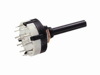 LORLIN rotary switch, 3 switches, 4 positions 30º, PCB<br />Price per piece