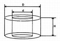 Spacer 15mm, M4, Ø8mm, PE black