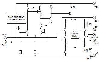 THAT 2181BL08, Blackmer  VCA, -90/+30dB (0 008% THD), SIP8 Price per piece