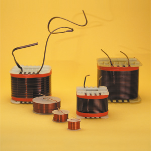 AIR core wire coils, baked