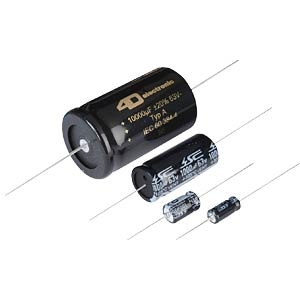 Axial electrolytic capacitors, 105ºC