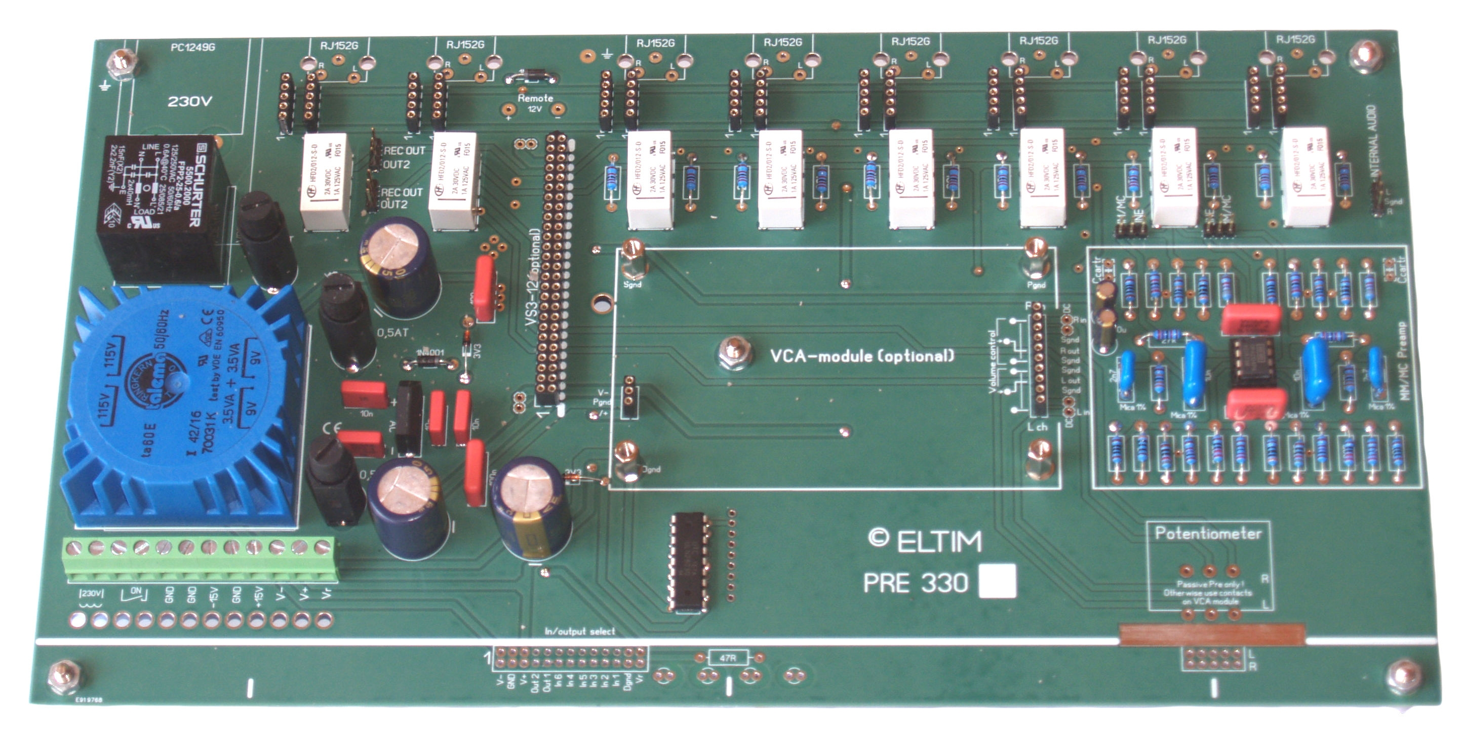 ELTIM Preamplifier modules