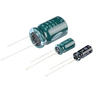 Radial electrolytic capacitors